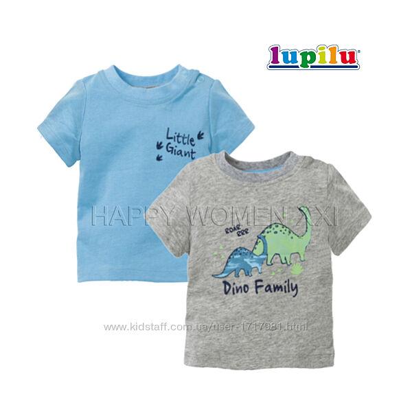 Набор футболок для мальчика 2-6 м Lupilu детская футболка на малыша дитяча