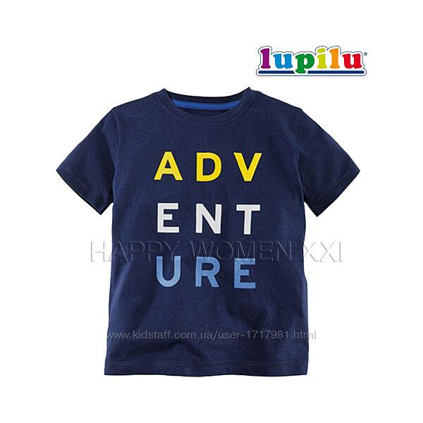 Футболка для мальчика 1-6 лет Lupilu хлопковая футболочка детская яркая
