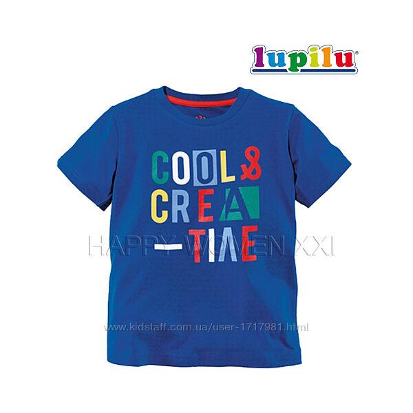 Футболка для мальчика 2-4 года Lupilu хлопковая футболочка детская яркая