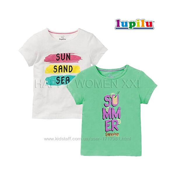 Набор футболок для девочки 1-2 года Lupilu хлопковая детская футболка