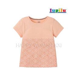 Футболка для девочки 1-4 года Lupilu нарядная детская футболочка дитяча