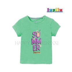 Футболка для девочки 1-2 года Lupilu хлопковая детская футболочка дитяча