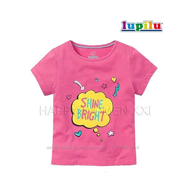 Футболка для девочки 2-4 года Lupilu хлопковая детская футболочка дитяча