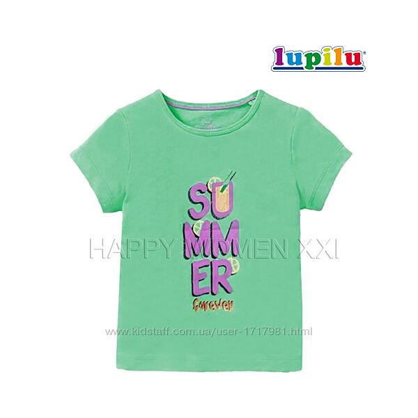 Футболка для девочки 4-6 лет Lupilu хлопковая детская футболочка дитяча