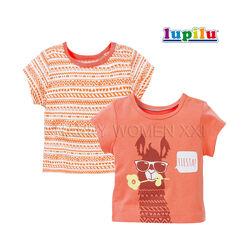 Набор футболок для девочки 6-12 м Lupilu детская футболка на малышку дитяча