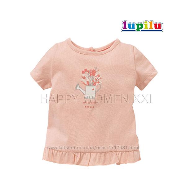 Футболка для девочки 6-12 мес Lupilu детская футболочка на малышку дитяча