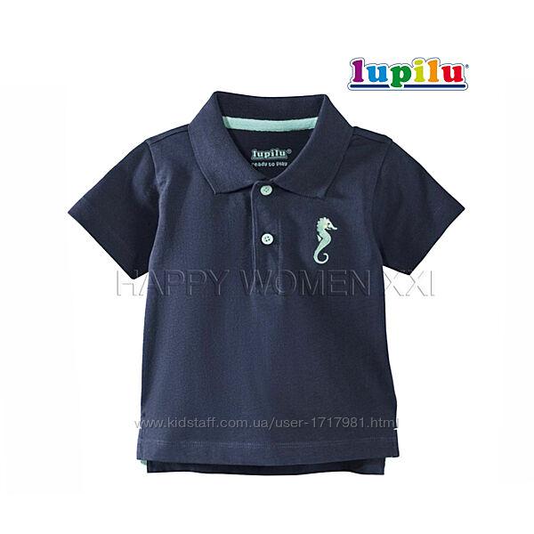 Футболка поло для мальчика 6-12 м Lupilu детская футболка на малыша дитяча