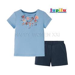 Летняя пижама для девочки 2-6 лет Lupilu комплект шорты футболка шортики
