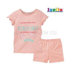 Летняя пижама для девочки 4-6 лет Lupilu комплект шорты футболка шортики