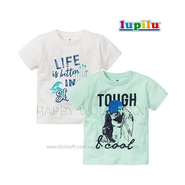 Набор футболок для мальчика 1-2 г Lupilu хлопковая детская дитяча футболка