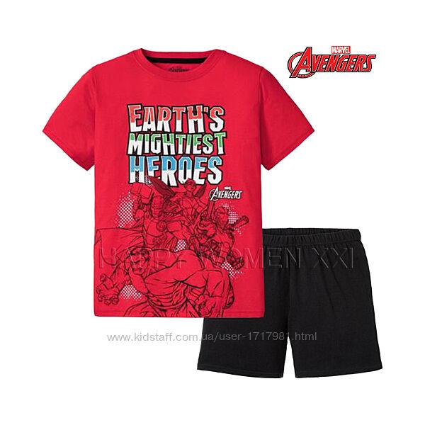 Летняя пижама для мальчика 6-8 лет домашняя одежда футболка шорты пижамка