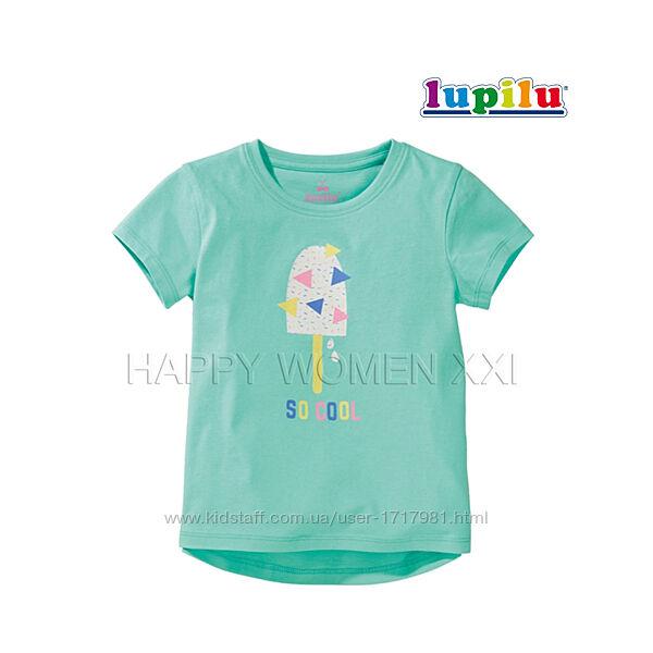 Футболка для девочки 2-6 лет Lupilu детская хлопковая футболочка дитяча