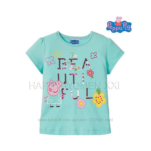 Футболка для девочки 4-6 лет Peppa Pig детская хлопковая футболочка дитяча