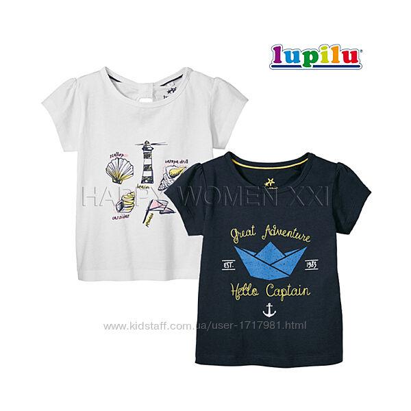 Набор футболок для девочки 2-6 лет Lupilu детская хлопковая футболка