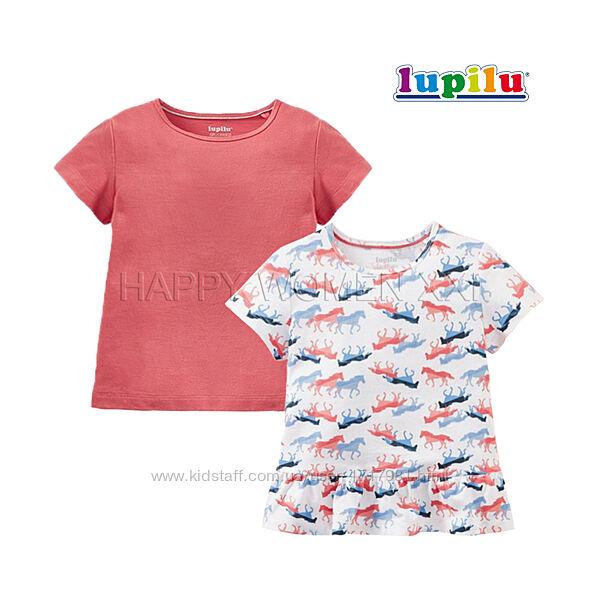Набор футболок для девочки 4-6 лет Lupilu детская хлопковая футболка