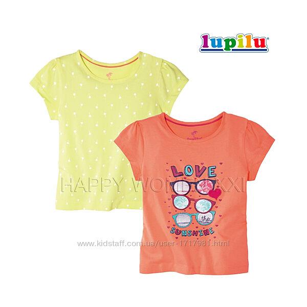 Набор футболок для девочки 1-2 года Lupilu детская хлопковая футболка