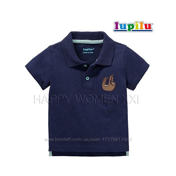 Футболка поло для мальчика 2-6 мес Lupilu футболочка на малыша детская