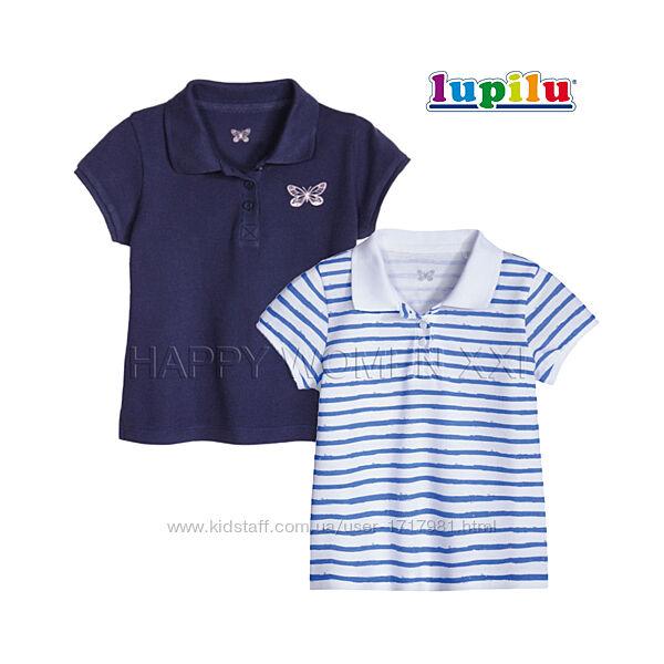 Набор футболок поло для девочки 1-2 года тенниска рубашка футболка детская