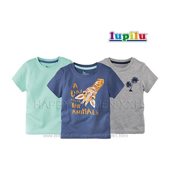 Набор футболок для мальчика 4-6 л Lupilu хлопковая детская дитяча футболка