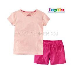 Летняя пижама для девочки 4-6 лет Lupilu футболка шорты пижамка детская