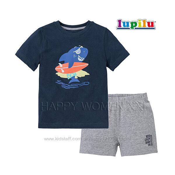 Летняя пижама для мальчика 1-2 года Lupilu футболка шорты хлопчик піжама