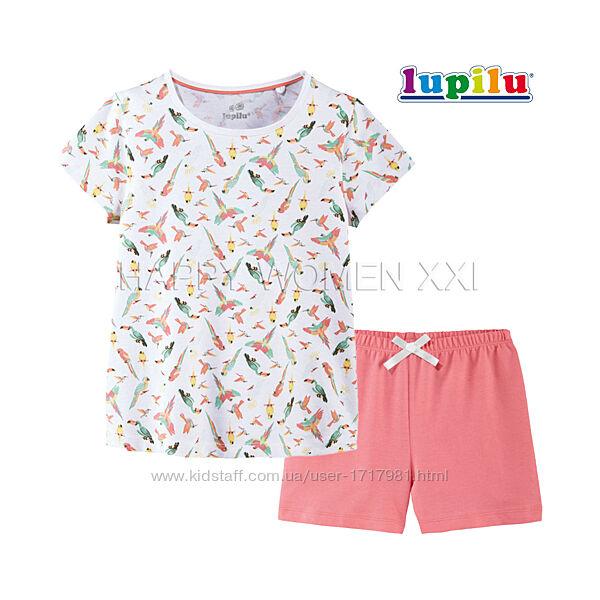 Летняя пижама для девочки 1-2 г комплект летний хлопковый футболка шорты