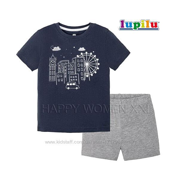 Летняя пижама 2-6 л футболка шорты пижамка детская садик садочок піжама