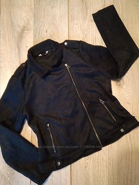 Женская байкерская куртка ESMARA, имитация замши, с боковыми карманами