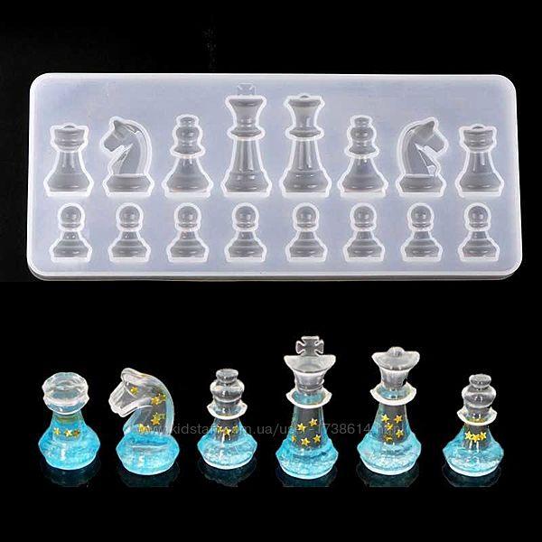 Молд, силиконовые формы для кулонов, сергь, шахмат из эпоксидной смолы