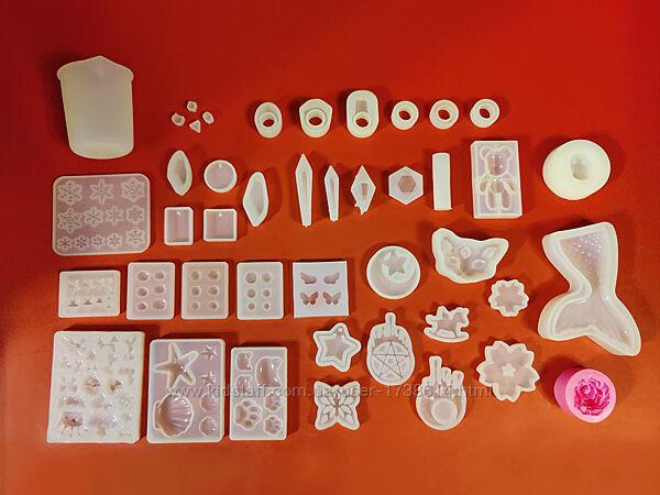 Молд, силиконовые формы для кулонов, кристаллов из эпоксидной смолы