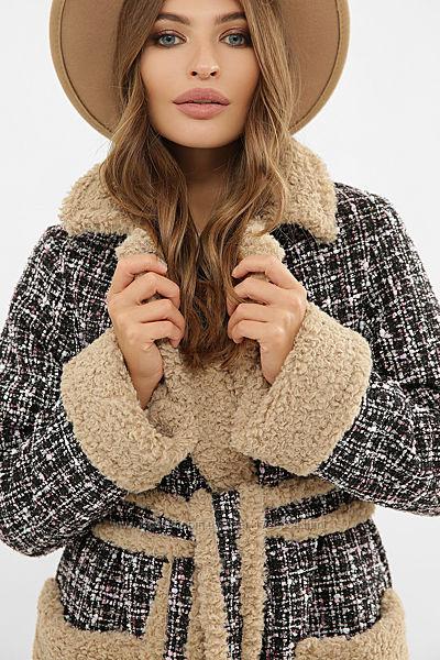 Пальто женское букле теплое зимнее стильное размеры 44-48