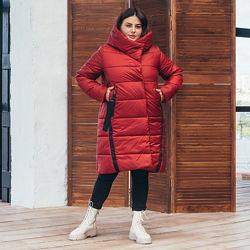 Женская длинная зимняя куртка размеры 48-60