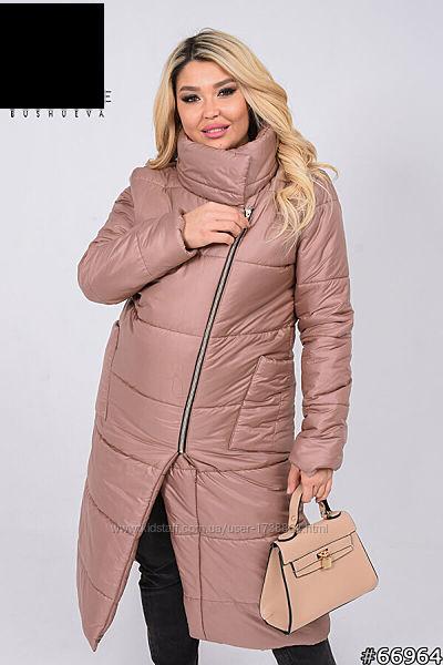 Пальто женское теплое болоневое зимнее размеры 50-62