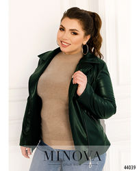 Куртка женская из эко-кожи короткая размеры 46-60 код М-44041