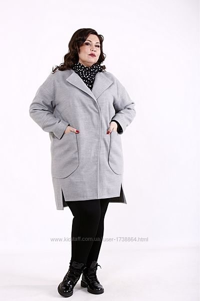 Пальто женское кашемировое легкое демисезонное размеры 42-74