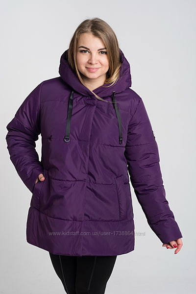 Куртка женская демисезонная с капюшоном размеры 50-64