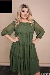Платье женское свободное миди размеры 50-64