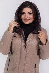 Куртка женская демисезонная с капюшоном размеры 50-60