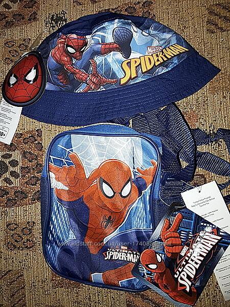 Стильный летний набор для мальчика Спайдермен на 5-12 лет, панамка и сумка.