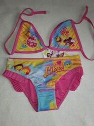 Раздельный модный купальник Дисней для девочки 6-10 лет, очень симпатичный.