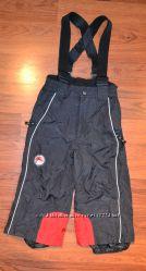 Теплые зимние штаны C&A р. 92 см, цвет черный