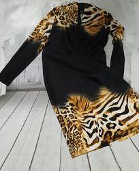 Платье ТМ HelenA с леопардовым принтом