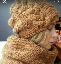 Шапки, шарфы, комплекты для женщин