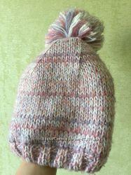 Зимняя тёплая шапка на флисе на 2-3 года