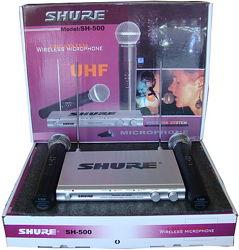 Shure SH-500 радиосистема 2 радио микрофона shure sm 58 гарнитура петличный