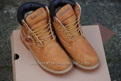 Зимние ботинки Timberland Classic 6 inch beige с мехом, теплые Реплика ААА