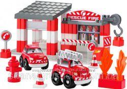 Ecoiffier Конструктор Скоростное авто Пожарное депо 003080
