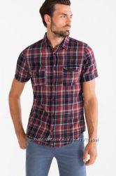 Мужские рубашки в клетку с коротким рукавом С&А, Германия