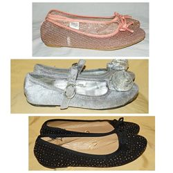 фирменные туфли балетки. размер 33-35