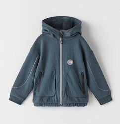 Спортивная кофта zara 3-4 лет, 104 смпайта, худи, толстовка, куртка